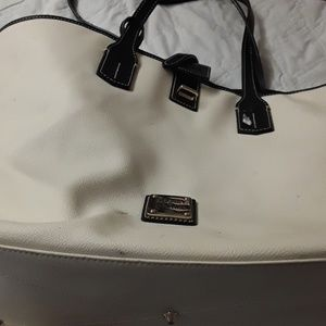 lg. white/blue purse